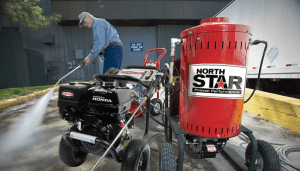 Commercial hot water pressure washers