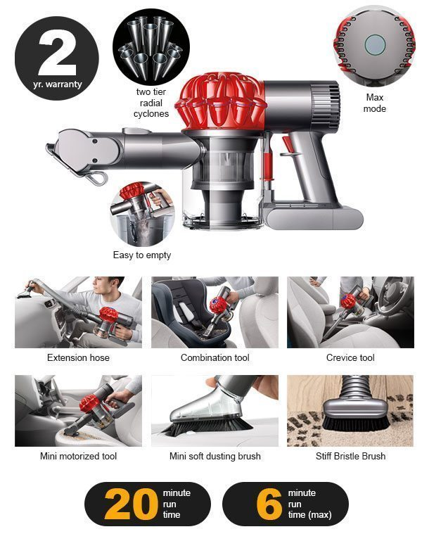 Dyson V6 Car Features