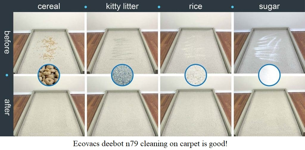 Ecovacs deebot n79 cleaning on carpet