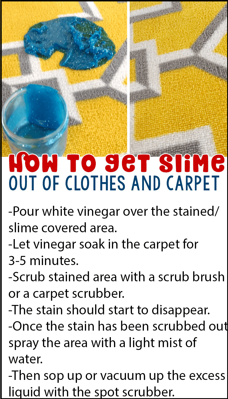 how to get slime out of carpet and clothes