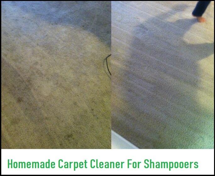 homemade carpet cleaner for shampooer