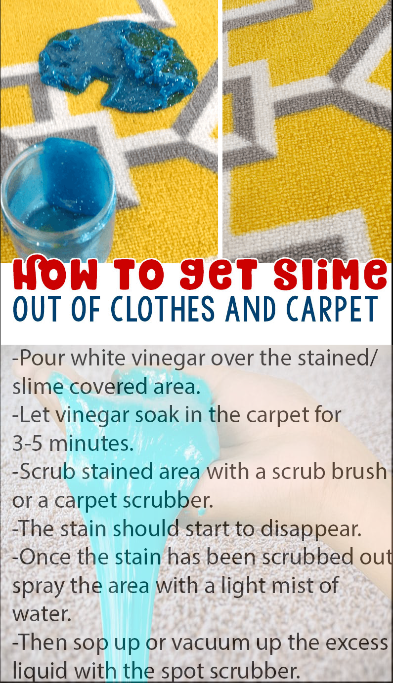 how to get slime out of carpet with vinegar