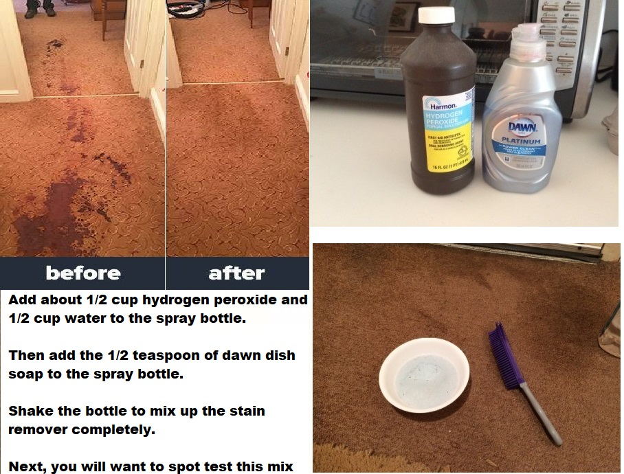 Homemade Carpet Stain Remover For Pets With Hydrogen Peroxide