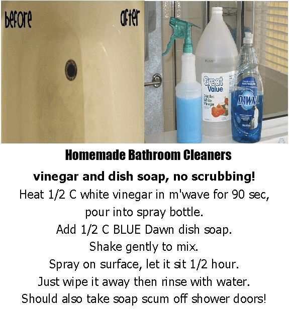 How to Clean The Bathroom with Vinegar and Dawn?